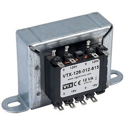 Vigortronix VTX-126-012-615 Chassis Mains Transformer 12VA 0-15V