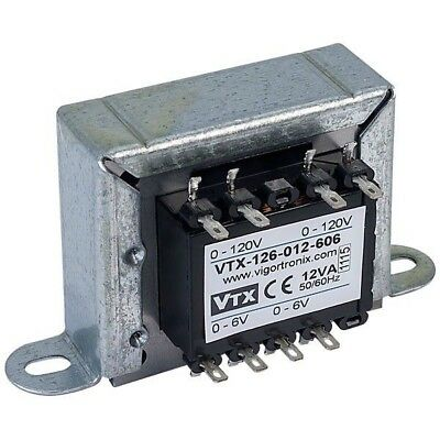 Vigortronix VTX-126-012-606 Chassis Mains Transformer 12VA 0-6V