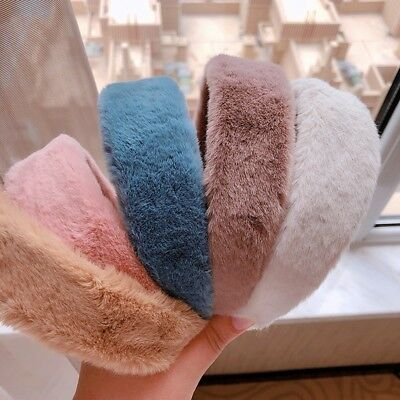 Women's Winter Faux Fur Wide Headband Hair Band Head Wear Hairband Hair Hoop