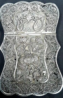 Antique Chinese Export Silver Filigree Card Case, YKC c1860