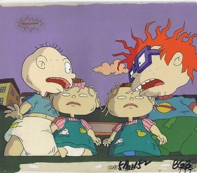 RUGRATS Production Cel Cell Original Animation Art Nickelodeon COA 90's Worms