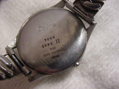 Vintage large antique WWII World War II MILITARY OPTIMA mens watch