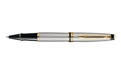 Waterman Expert 3 Stainless Steel & Gold Trim Rollerball Pen New In Box