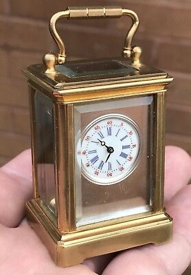 A Small Vintage Novelty Brass Cased Carriage Clock, Spares Or Restoration..