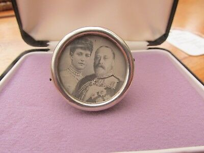 Antique solid silver miniature photo frame 1875 strut back