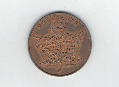 1909 Manufacturers Association Convention Hamilton Souvenir Medallion