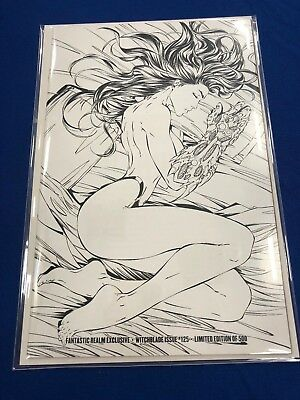 Witchblade #125 Black and White Michael Turner Variant Limited to 500 Copies
