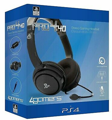 Official PRO4-40 Stereo Gaming Chat Headset with Mic Black for PlayStation 4 PS4