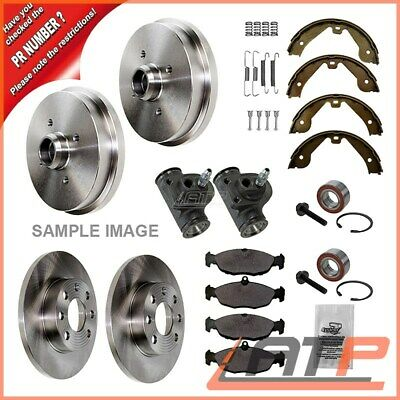 Brake Set Kit Front + 2X Wheel Bearing Rear Seat Arosa 6H 1.0 1.4 1.7