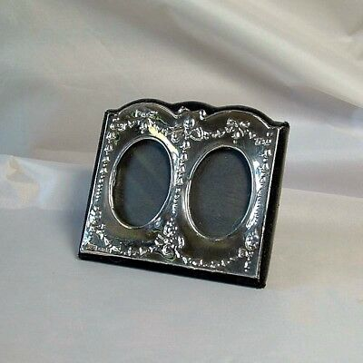 Vintage Keyford Frames Ltd Double Sterling Silver Photo Frame Hm 1985 London.