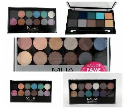 MUA Make Up Academy 10-12 Shades Eye Shadow Eyeshadow Palette various