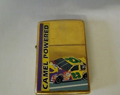Zippo Camel Collectible Powered Gold Tone Lighter ~  Made in the U.S.A.