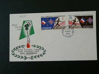 South Pacific Olympic games FDC New Hebrides (GB) 50653