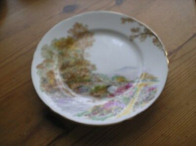 Vintage Art Deco 'Heather' Side Plate by Shelley