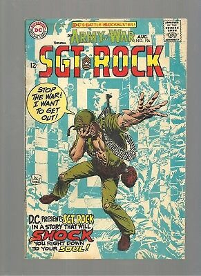 Our Army At War #196 Mid Grade Copy Kubert Cover Art