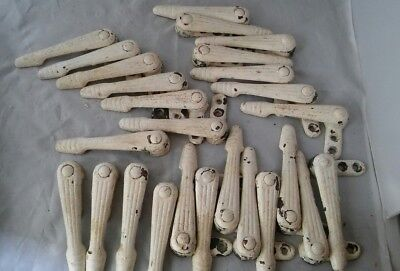 Art Deco Stair Carpet Clips rods brackets grips rug reclaimed old vintage