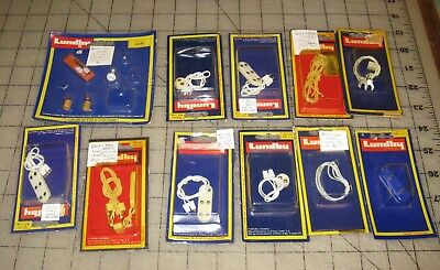 Large Lot of Vintage LUNDBY Electrical Outlets/Power Bars, Wires + 1 Extra - NOS