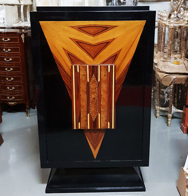 BARSCHRANK MÖBEL, Spirituosen BAR mit DREHMECHANISMUS - ART DECO BAR FURNITURE