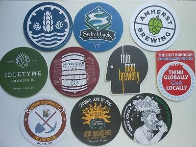 10 Craft Beer Coasters-Thin Man,idletyme,lost Borough,quarry,switchback,amherst
