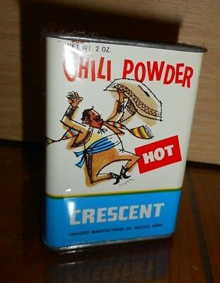 #14 OLD Advertising Spice Tins Graphics Crescent Chili Powder Mexican Dancer