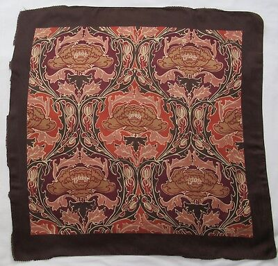 LIBERTY of LONDON vintage silk scarf Nouveau Poppies 68 x 68 cm
