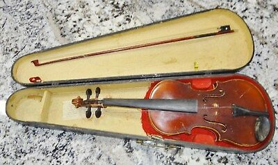 Copy Antonius Stradivarius German Violin Czechoslovakia Bow Parts Restore Repair