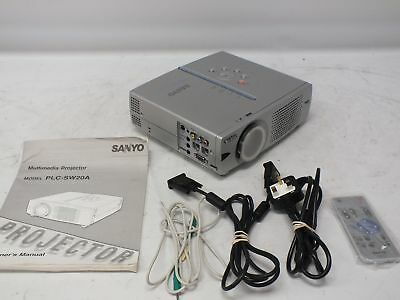 SANYO PLC-SW20A PRO-X Multiverse Projector With Power Cable And Remote - S84