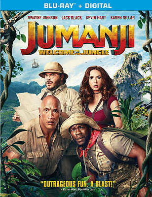 Jumanji: Welcome to the Jungle (Blu-ray, 2018, Digital HD) NEW