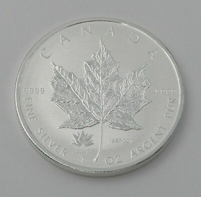 2017 Canada Silver Maple Leaf 1oz 150th Anniversary Privy Reverse Proof  #7746