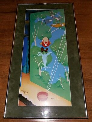 Virgil Ross signed High Flying Sam hand-painted WB Cel Bugs Bunny $1200 retail