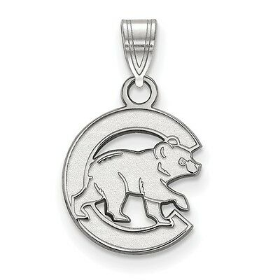 Small Chicago Cubs Bear with C Pendant