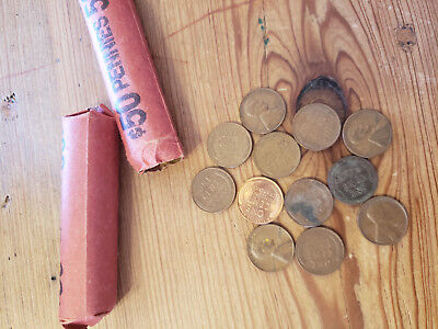 2 Rolls Unsearched Wheat Pennies