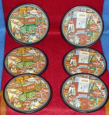 Lot  Of 6  Vintage Style Coca-Cola Collectable Cork Costers