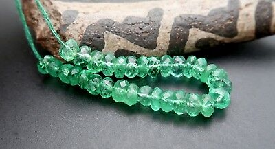 COLOMBIAN EMERALD - SPECTACULAR RARE GEM AAAAA+ 3.2-3.6mm BEADS 5.35cts