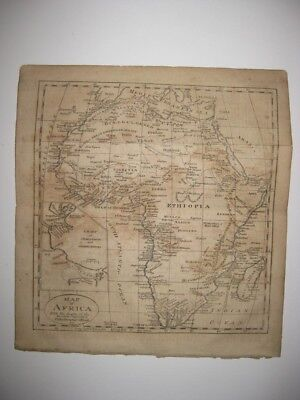 Fine Antique 1802 Africa Copperplate Map Tooth Coast Mountains Of The Moon Rare