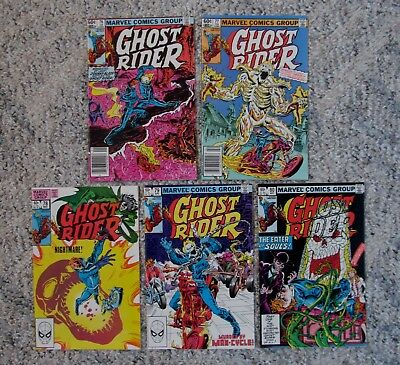 Ghost Rider 76, 77, 78, 79 and 80 (1983) Marvel Comics