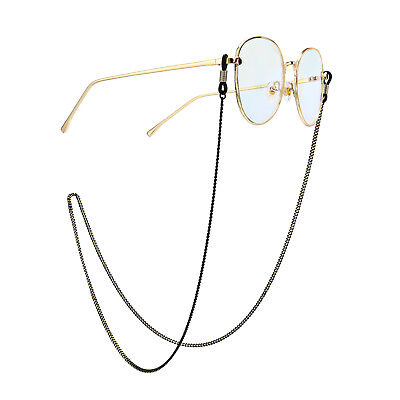 Black Gold Eyeglass Cord Reading Glasses Eyewear Spectacles Chain Strap Holder