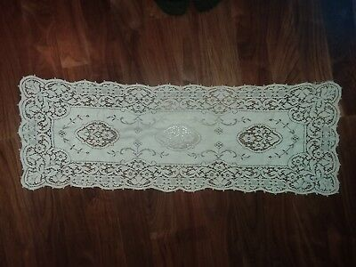 Antique Runner - Heavy Ivory Lace - 35Long x 12 Wide - Excellent Condition