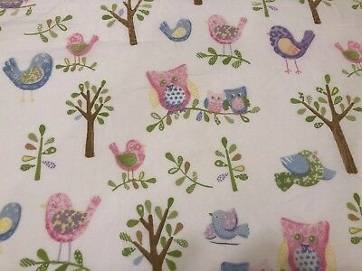 Pottery Barn Baby Hayley Crib Fitted Sheet Owl Bird Tree Organic Cotton One Size