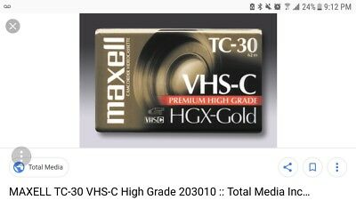 Maxell Camcorder Videocassette  VHS TC 30 GX-GOLD NEW SEALED