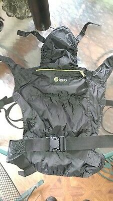 BOBA Air Baby Carrier Freedom Together Black Nylon with Sleeping Hood