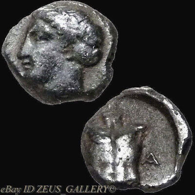 APOLLO Cuirass Muscled Chest Magnesia ad Meander 400 BC Small Ancient Greek Coin