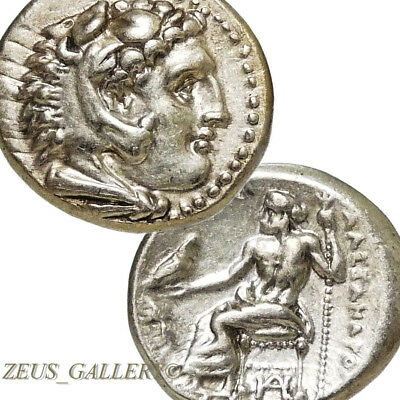 RARE Lifetime of ALEXANDER the Great Issue Ancient Silver coin Herakles 325 BC