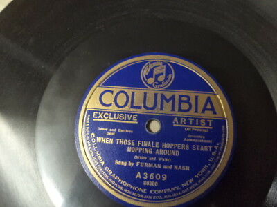 Early 20s COL.78/Furman and Nash-Vocal Duet w.Orch./E
