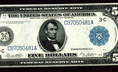 $5 1914 (( ALMOST UNCIRCULATED )) Federal Reserve Note ** MORE CURRENCY FOR SALE