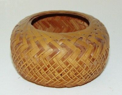 ANTIQUE NATIVE AMERICAN? Small Indian Basket WOVEN