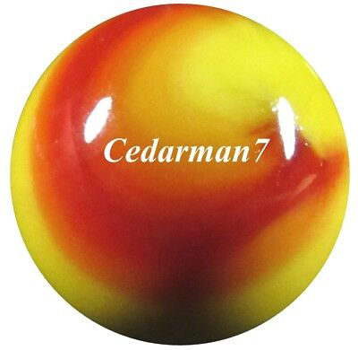 "Cedarman7; Outstanding Vintage 25/32"" Wet Mint (-) Akro Agate Prize Name Shooter"