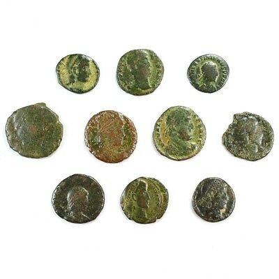 Ten (10) Nicer Ancient Roman Coins c. 100 - 375 A.D. Exact Lot Shown rm3229