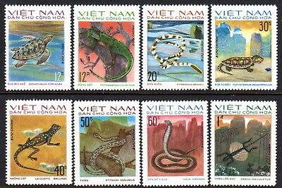 1975 NORTH VIETNAM REPTILES SGN831-838 mint no gum as issued