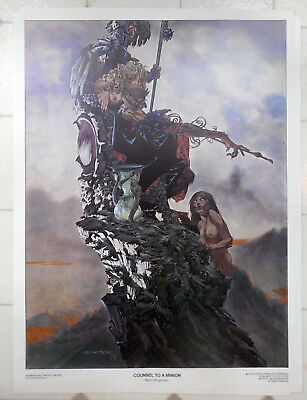 Berni Wrightson Horror & Fantasy Series Print Poster 1976 #7 Counsel To A Minion